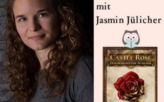 "Autorenfoto Jasmin Jülicher & Cover ""Castle Rose"""