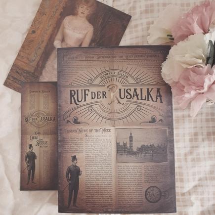 """Cover & Lesezeichen """"Ruf der Rusalka"""""""