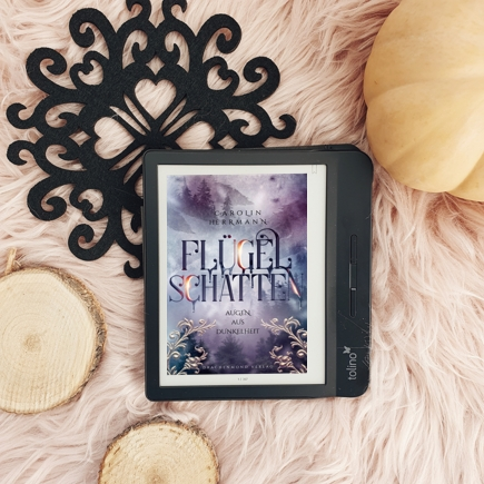 """Cover """"Flügelschatten"""" auf dem E-Reader"""