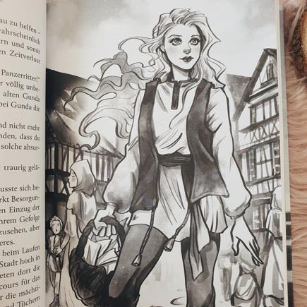 Illustration im Buch Vanara; Künstlerin: Ketrin Rey